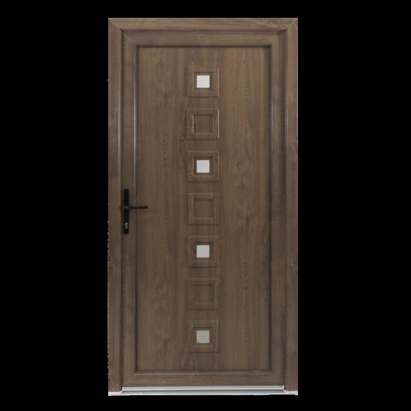 Ușă Exterior - Model LOLA, Alb/Nuc