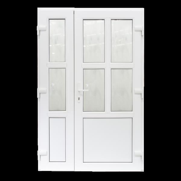 Ușă Exterior - Model Aruba Cu Pui Alb/Alb